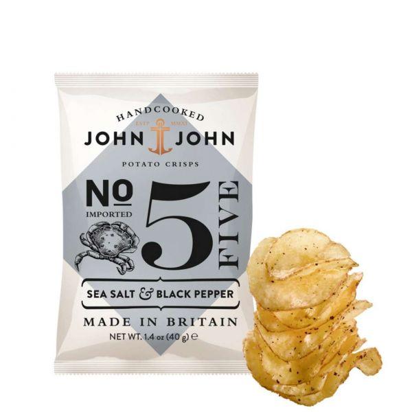 John & John Chips: Sea Salt & Black Pepper
