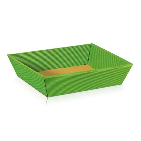 Geschenkkorb Ostern, hellgrün, flach