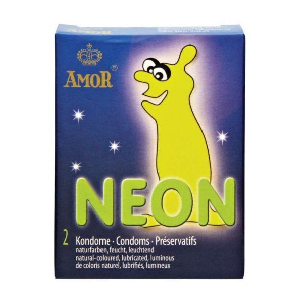 Amor Kondome Neon, 2 Stück