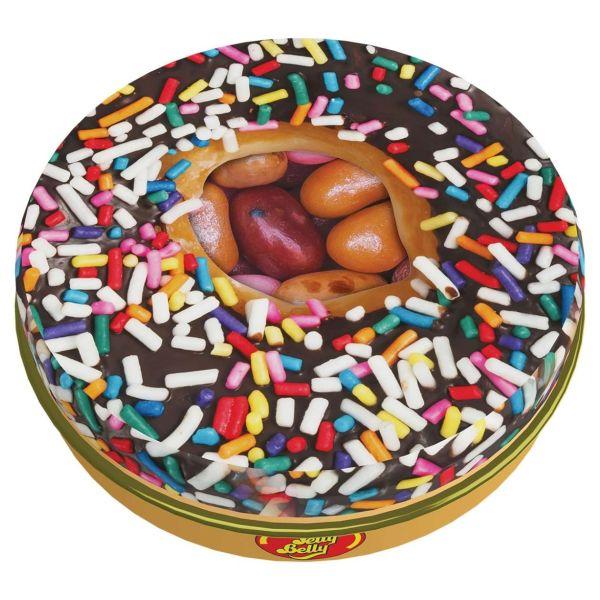 Geleebohnen in Donutdose, Jelly Belly