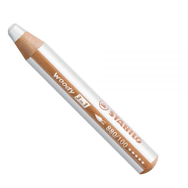 Buntstifte für Kleinkinder: Stabilo woody weiß - 100