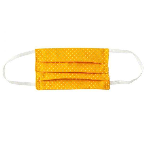 Stoffmaske aus Baumwolle gelb, Roth