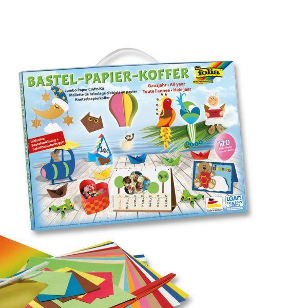 Bastelkoffer mit Bastelanleitung + Schnittmuster, 110 Teile folia