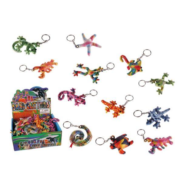 Schlüsselanhänger Sandtiere, sortiert