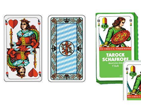 Schafkopf, Spielkarten bayr. Bild