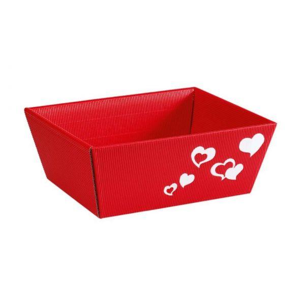 Präsentkorb Liebe: Herz rot, klein