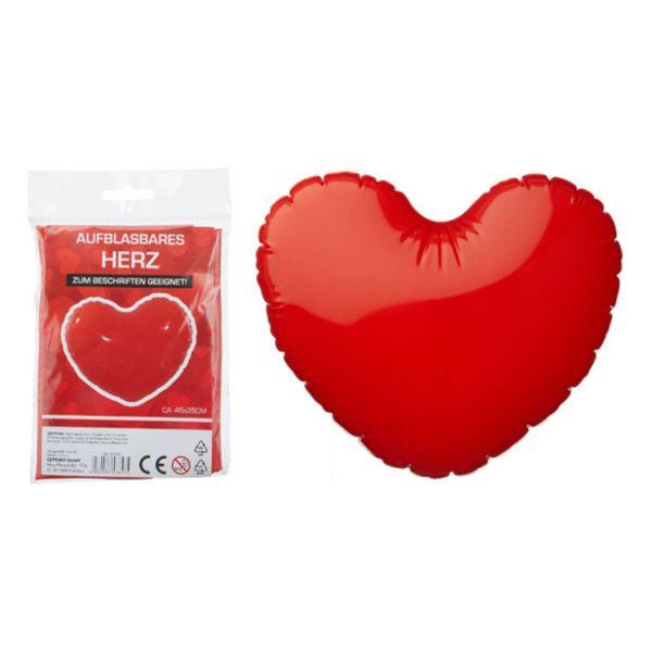 Aufblasbares Herz, ca. 45 cm
