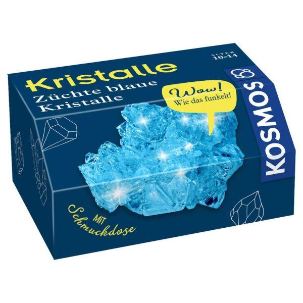 Kristalle züchten, Kosmos, blau