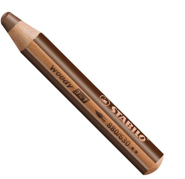 Buntstifte für Kleinkinder: Stabilo woody braun - 630