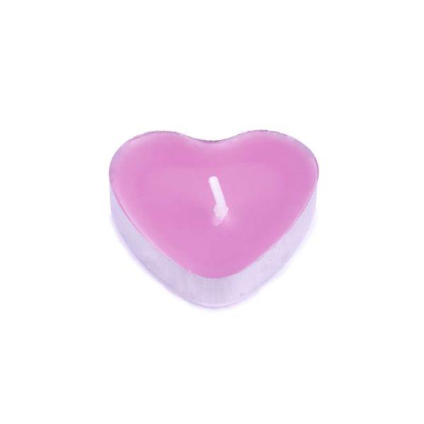Teelicht Herz rosa, 1 Stück