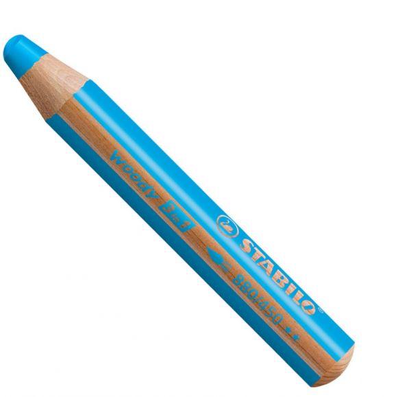 Buntstifte für Kleinkinder: Stabilo woody cyanblau - 450