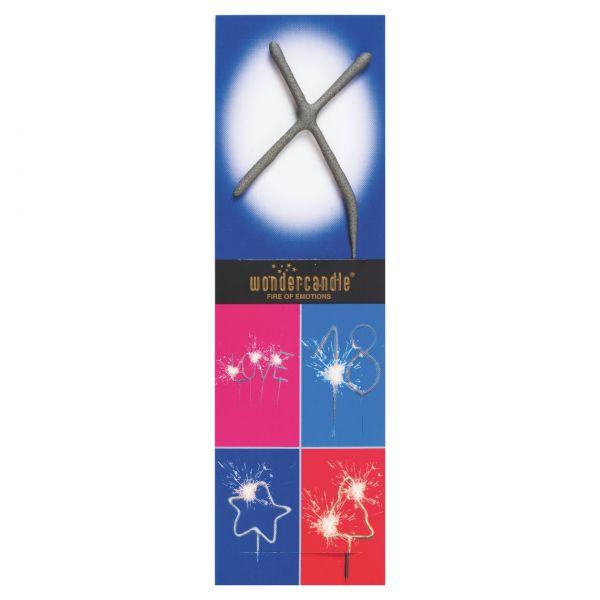 Wunderkerze Buchstaben: X