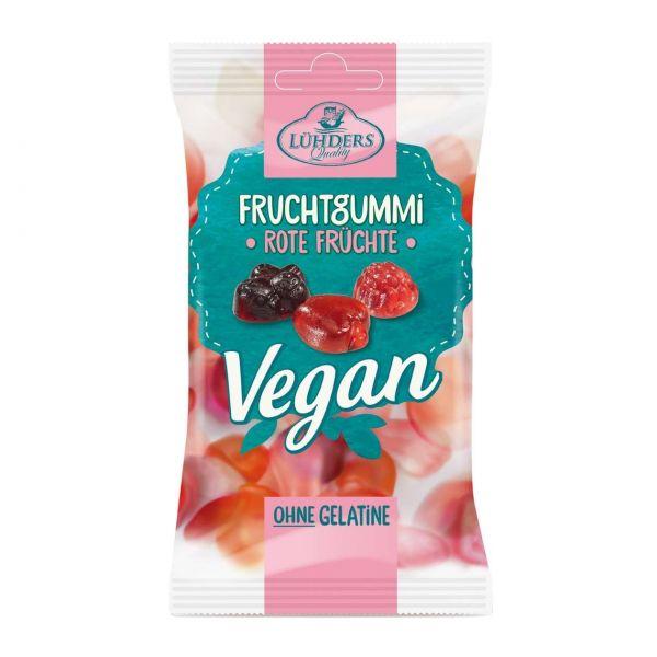 Lühders Fruchtgummi vegan, Rote Früchte