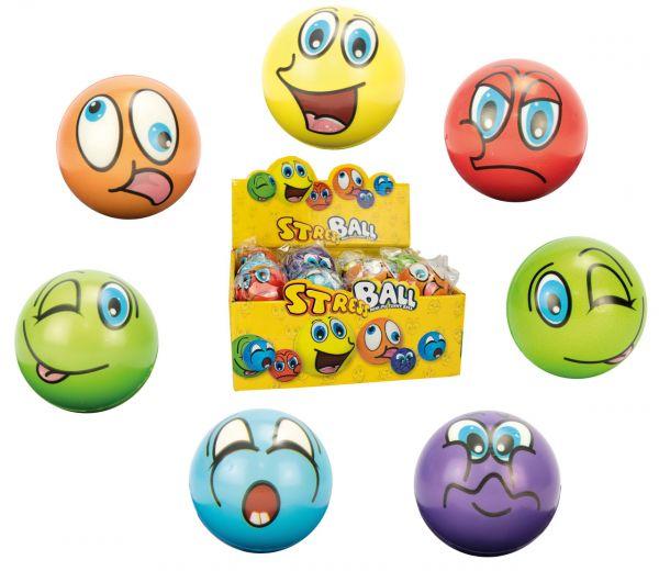 Antistressball Happy Face, farblich sortiert