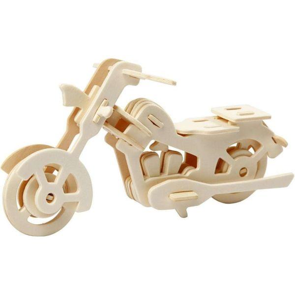 3D Holzpuzzle, Motorrad