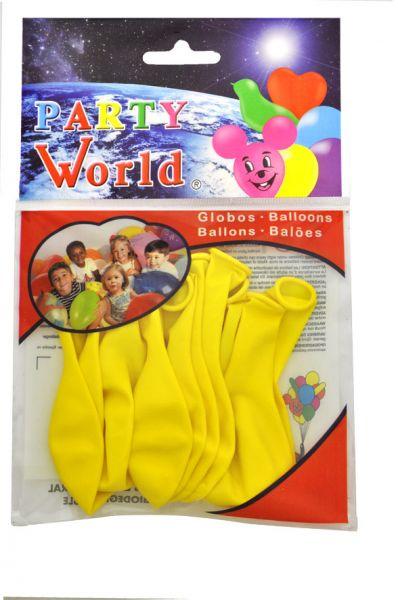 Luftballons, gelb, 10 Stück
