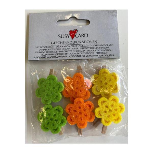 Blumenklammer 6er Pack