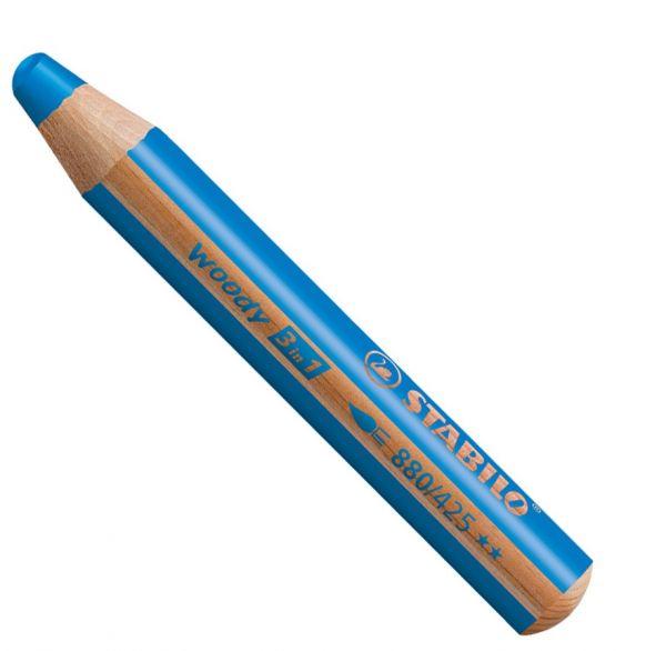 Buntstifte für Kleinkinder: Stabilo woody mittelblau - 425