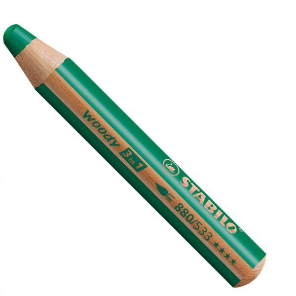 Buntstifte für Kleinkinder: Stabilo woody dunkelgrün - 533