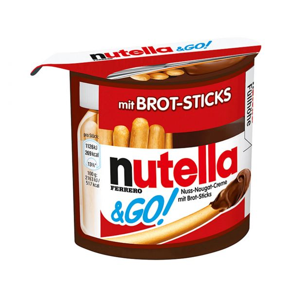 Nutella & Go! Mit Brot-Sticks