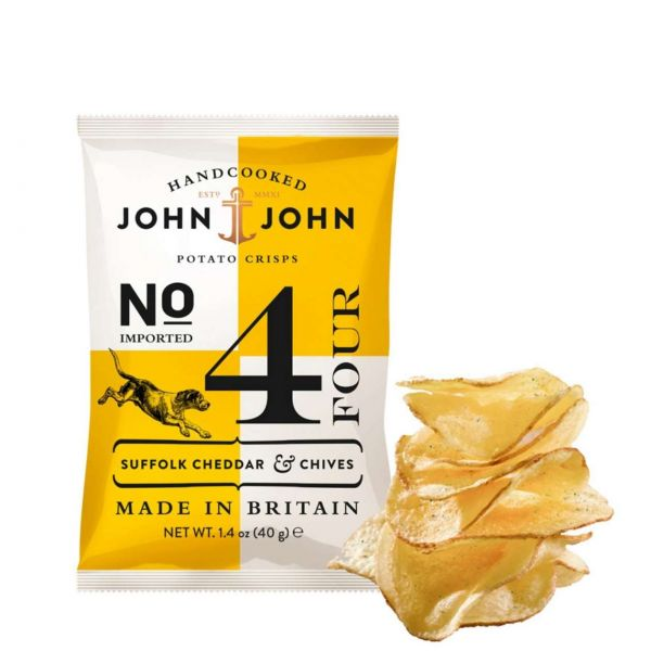 John & John Chips: Suffolk Cheddar & Chives