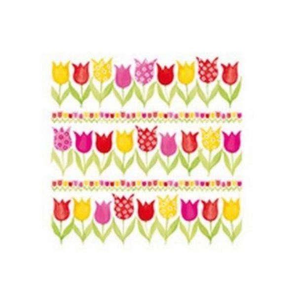 Osterservietten klein: Tulpen, 20 Stück