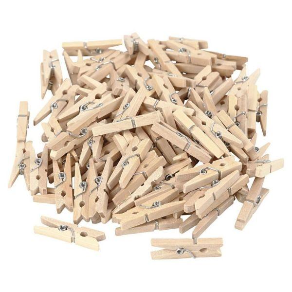 mini Wäscheklammer aus Holz, 1 Stück