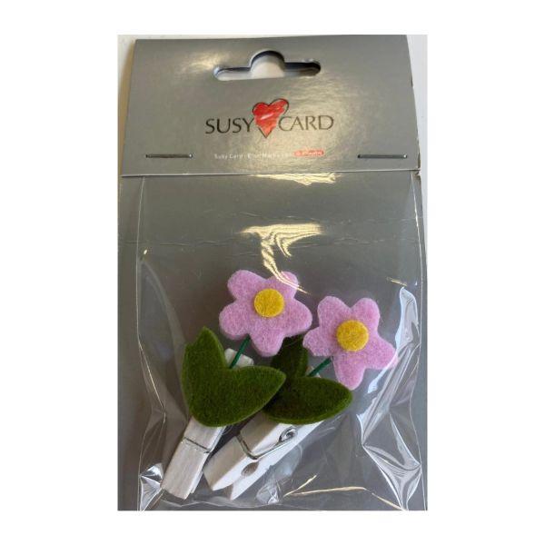 Blumenklammer Doppelpack