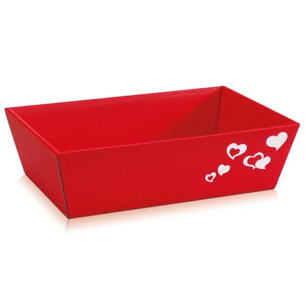 Präsentkorb Liebe: Herz rot, mittel
