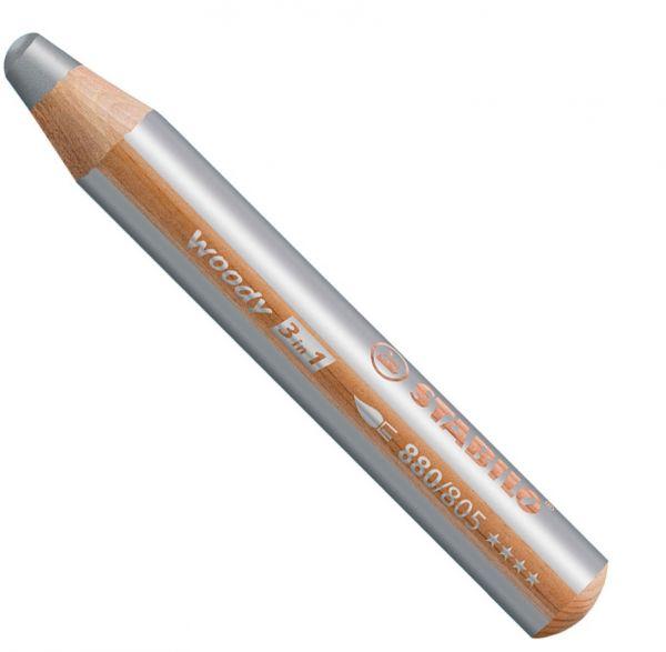 Buntstifte für Kleinkinder: Stabilo woody silber - 805