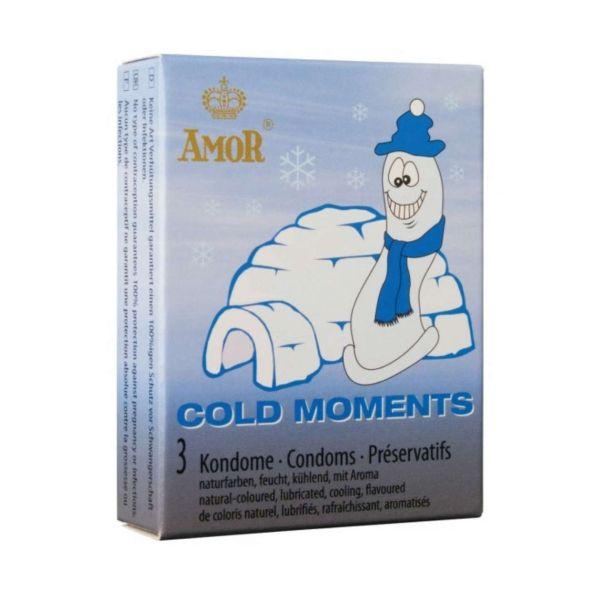 Amor Kondome Cold Moments, 3 Stück