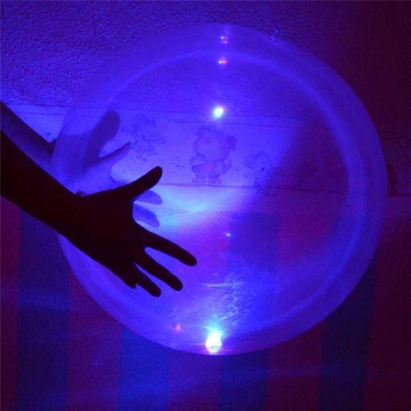 LED-Ballonball zum Aufblasen, 90 cm